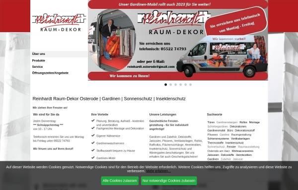 Vorschau von reinhardt-osterode.de, Reinhardt Raum-Dekor