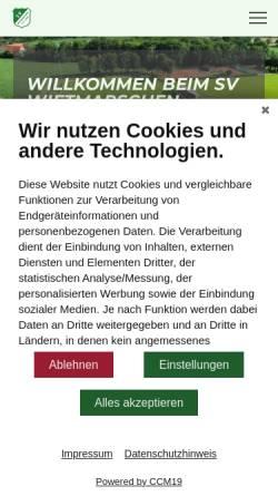Vorschau der mobilen Webseite www.sv-w.de, Sportverein Wietmarschen e.V. 1929