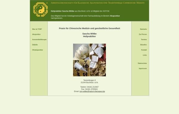Vorschau von www.tcm-wittke.agtcm-therapeut.de, Naturheilpraxis für chinesische Medizin und ganzheitliche Gesundheit - Inh. Sascha Wittke Heilpraktiker