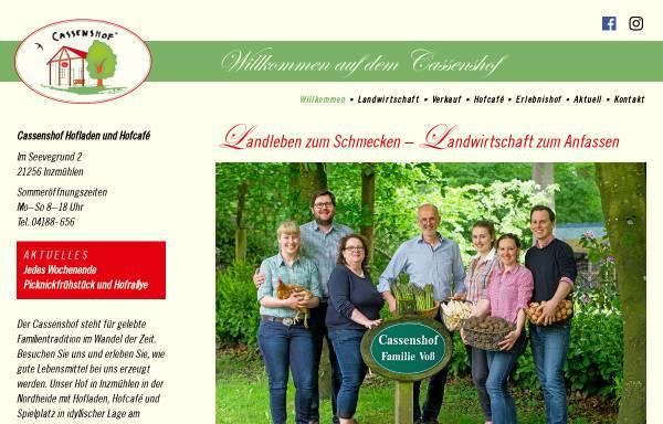 Vorschau von www.cassenshofladen.de, Cassens Hof, Familie Voß