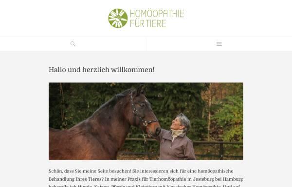Vorschau von www.gesundetiere.de, Sabine Müller - Klassische Homöopathie für Tiere