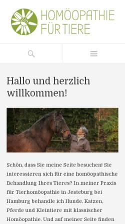 Vorschau der mobilen Webseite www.gesundetiere.de, Sabine Müller - Klassische Homöopathie für Tiere
