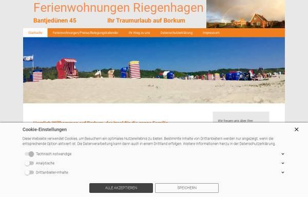Vorschau von www.riegenhagen.de, Ferienwohnungen Riegenhagen auf Borkum