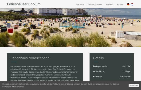 Vorschau von www.nordseeperle-borkum.de, Nordseeperle Borkum