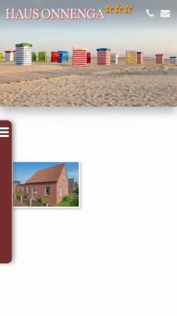 Vorschau der mobilen Webseite www.haus-onnenga.de, Ferienwohnung Haus Onnenga