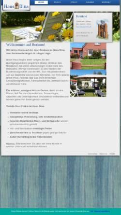 Vorschau der mobilen Webseite hausdina-borkum.de, Haus Dina
