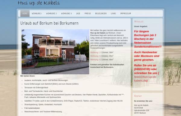 Vorschau von www.hus-up-de-kabels.de, Hus up de Kabels