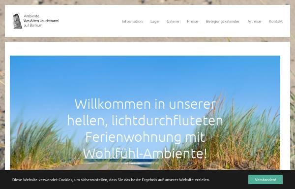 Vorschau von www.ambiente-borkum.de, Ferienwohnung Ambiente Borkum