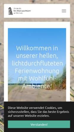 Vorschau der mobilen Webseite www.ambiente-borkum.de, Ferienwohnung Ambiente Borkum