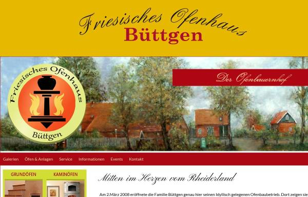 Vorschau von www.buettgen-ofenbau.de, Friesisches Ofenhaus Büttgen