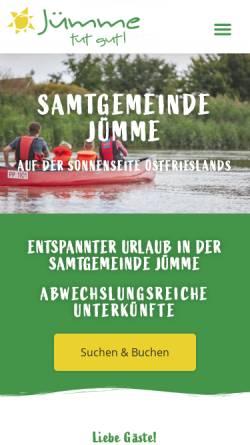 Vorschau der mobilen Webseite www.detern.de, Tourist Information Detern