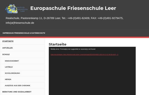 Vorschau von friesenschule.eu, Europaschule Friesenschule Leer