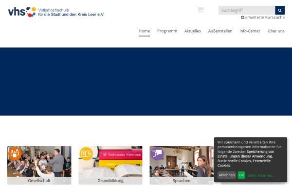 Vorschau von www.vhs-leer.de, Volkshochschule Leer