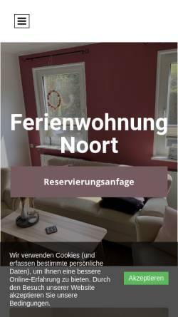 Vorschau der mobilen Webseite www.ferien-leerort.de, Ferienwohnung Noort