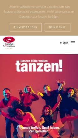 Vorschau der mobilen Webseite www.schrock-opitz.de, Tanzschule Thorsten & Olaf Schrock-Opitz