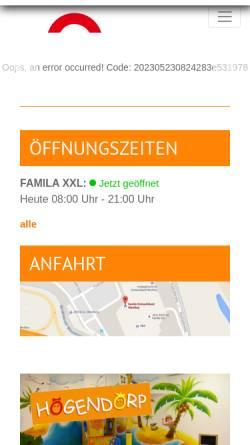 Vorschau der mobilen Webseite www.einkaufsland.de, Famila Einkaufsland Wechloy