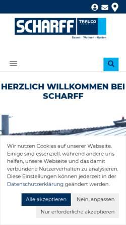 Vorschau der mobilen Webseite www.scharff-baustoffe.de, J.G. Scharff GmbH & Co.