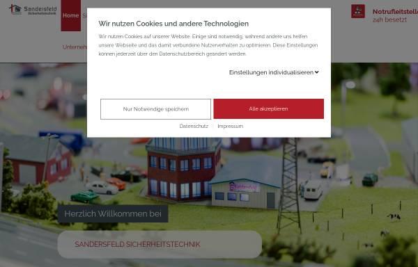 Vorschau von www.sandersfeld.de, Sandersfeld Sicherheitstechnik GmbH