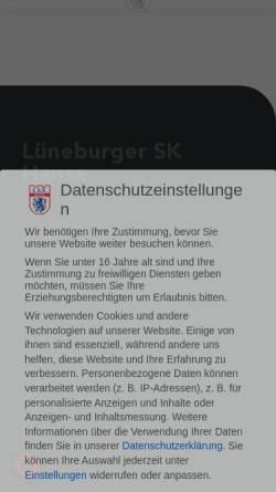 Vorschau der mobilen Webseite www.lsk-hansa.de, Lüneburger SK Hansa