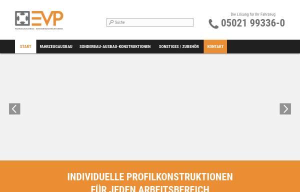 Vorschau von www.evp-fahrzeugeinrichtung.de, EVP GmbH