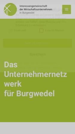 Vorschau der mobilen Webseite www.iwu-wettmar.de, Wettmar.de - Interessengemeinschaft Wettmar.de e.V.