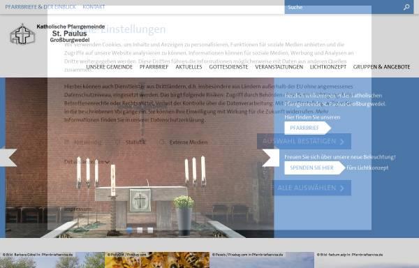 Vorschau von www.st-paulus-burgwedel.de, Katholische Pfarrgemeinde St.Paulus