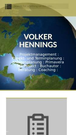 Vorschau der mobilen Webseite volkerhennings.com, Volker Hennings