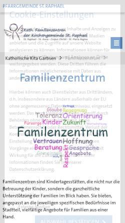 Vorschau der mobilen Webseite www.kath-kita-garbsen.de, Katholische Kindertagesstätten in Garbsen - Katholische Kirchengemeinde St. Raphael