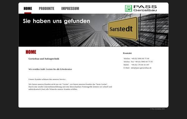Vorschau von www.pass-geruestbau.de, Gerüstbau und Aufzugtechnik Paß