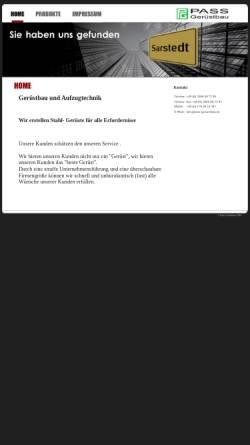 Vorschau der mobilen Webseite www.pass-geruestbau.de, Gerüstbau und Aufzugtechnik Paß