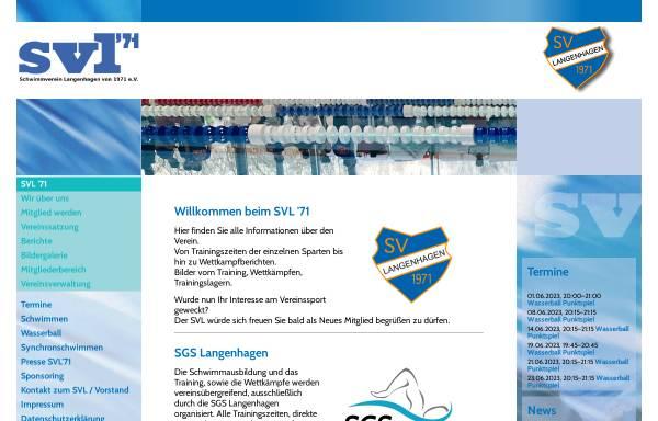 Vorschau von www.svl-langenhagen.de, SVL, Schwimmverein Langenhagen von 1971 e.V.