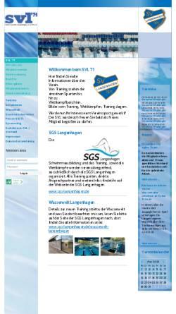 Vorschau der mobilen Webseite www.svl-langenhagen.de, SVL, Schwimmverein Langenhagen von 1971 e.V.