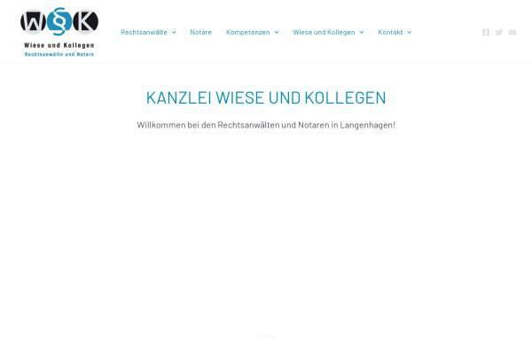 Vorschau von www.wieseundkollegen.de, Wiese und Kollegen Rechtsanwälte und Notare