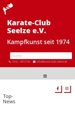 Vorschau der mobilen Webseite www.karate-club-seelze.de, Karate - Club Seelze e.V.