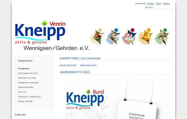 Vorschau von www.kneippverein-wennigsen.de, Kneipp-Verein Wennigsen/Gehrden e.V.