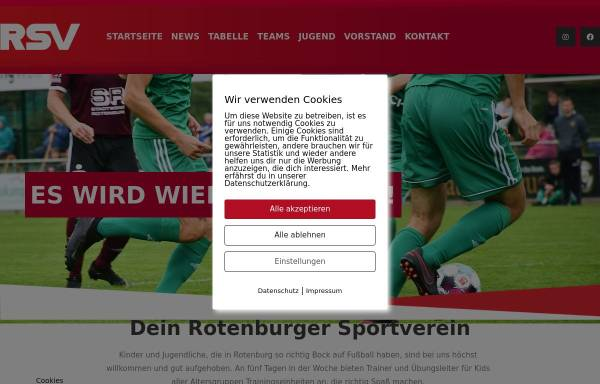 Vorschau von www.rotenburgersv.de, Rotenburger Sportverein