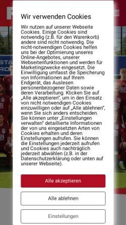 Vorschau der mobilen Webseite www.rotenburgersv.de, Rotenburger Sportverein