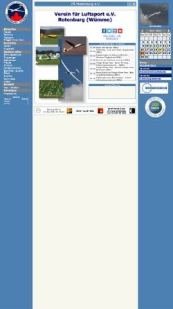 Vorschau der mobilen Webseite www.vfl-rotenburg.de, Verein für Luftsport e. V.