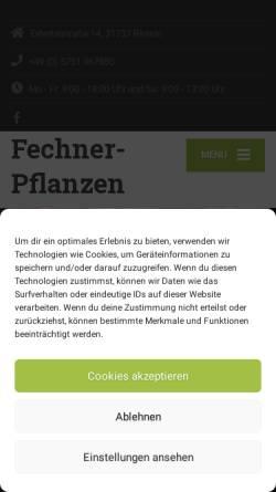 Vorschau der mobilen Webseite fechner-pflanzen.de, Caroline Fechner - Pflanzenhandel