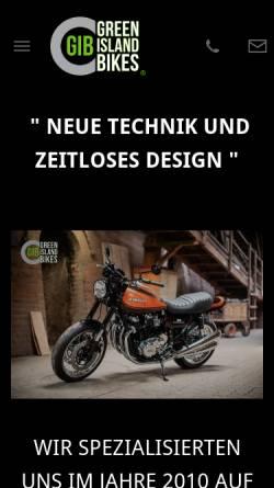 Vorschau der mobilen Webseite www.green-island-bikes.de, Green Island Bikes