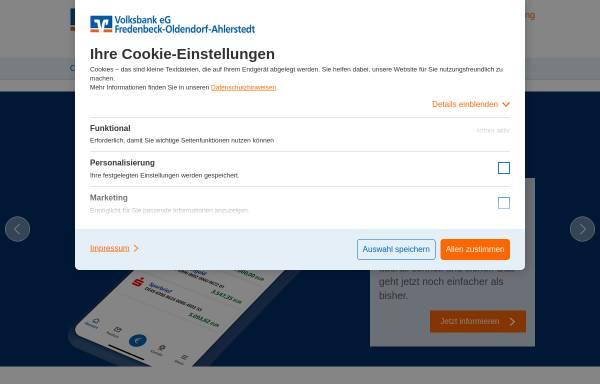 Vorschau von www.vbfoa.de, Volksbank eG Fredenbeck-Oldendorf-Ahlerstadt