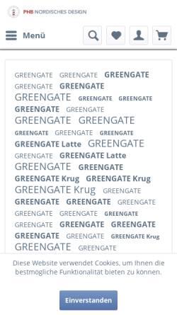 Vorschau der mobilen Webseite www.nordisches-design.de, PHB Nordisches Design