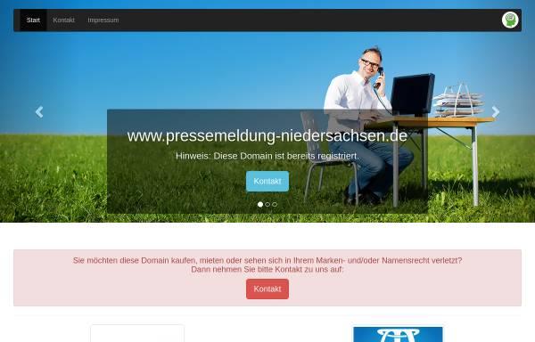 Vorschau von www.pressemeldung-niedersachsen.de, Pressemeldung-Niedersachsen.de
