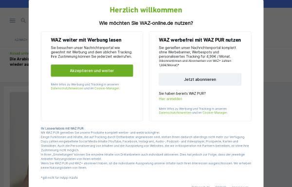 Vorschau von www.waz-online.de, Wolfsburger Allgemeine und Aller-Zeitung