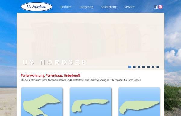 Vorschau von www.us-nordsee.de, Us Nordsee Immobilien GmbH & Co. KG