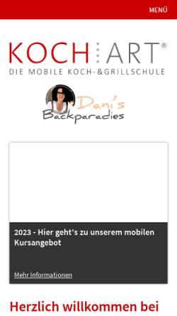 Vorschau der mobilen Webseite www.kochart-hannover.de, KOCH:ART - Die Koch- und Grillschule GmbH