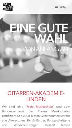 Vorschau der mobilen Webseite www.gitarren-akademie-linden.de, Gitarren Akademie Linden
