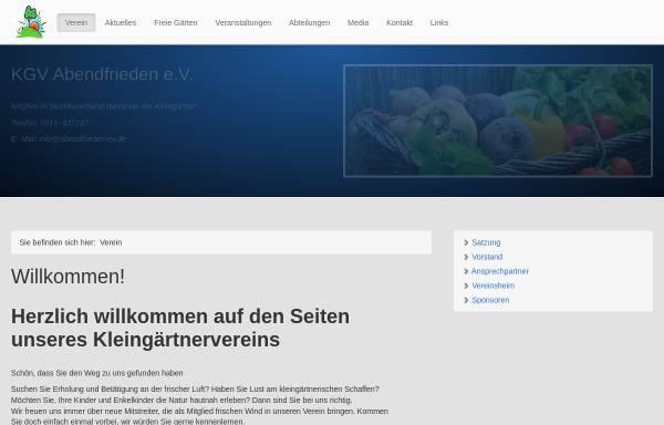 Vorschau von abendfrieden.bplaced.net, Kleingärtnerverein Abendfrieden e.V.