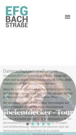 Vorschau der mobilen Webseite efg-bachstrasse.de, Evangelisch-Freikirchliche Gemeinde Bachstraße