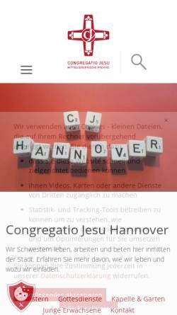 Vorschau der mobilen Webseite www.cj-hannover.de, Congregatio Jesu Hannover